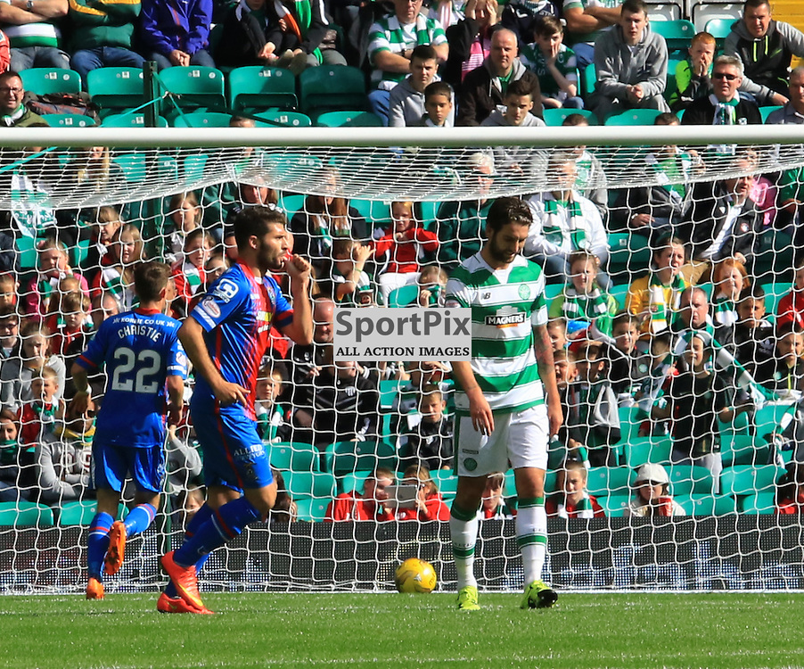 Daniel Lopez Robles pulls another back for Inverness during the Glasgow Celtic FC v Inverness Caledonian Thistle FC Scottish Premiership 15th August 2015 ©Edward Linton | SportPix.org.uk