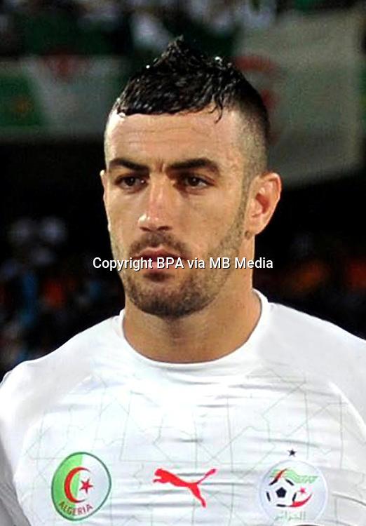 Football Fifa Brazil 2014 World Cup / <br /> Algeria National Team - <br /> Essa&iuml;d Belkalem of Algeria