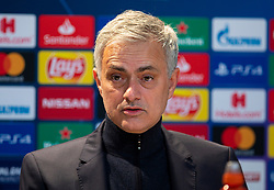 MUNICH, GERMANY - Wednesday, December 11, 2019: Tottenham Hotspur's manager José Mourinho during the post-match press conference after the final UEFA Champions League Group B match between FC Bayern München and Tottenham Hotspur FC at the Allianz Arena. Bayern Munich won 3-1. (Pic by David Rawcliffe/Propaganda)