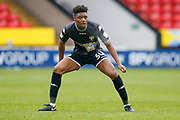 Bury midfielder Rohan Ince (30), on loan from Brighton & Hove Albion, in action  during the EFL Trophy match between Walsall and Bury at the Banks's Stadium, Walsall, England on 2 December 2017. Photo by Simon Davies.