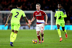 Adam Forshaw of Middlesbrough runs with the ball - Mandatory by-line: Robbie Stephenson/JMP - 14/12/2016 - FOOTBALL - Riverside Stadium - Middlesbrough, England - Middlesbrough v Liverpool - Premier League