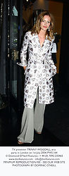 TV presenter TRINNY WOODALL, at a party in London on 1st July 2004.PWS 164