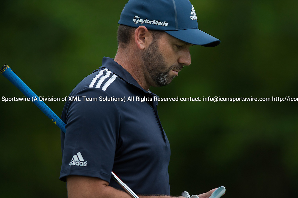 September 8, 2016: Sergio Garcia during the first round of the BMW Championship at Crooked Stick Golf Club in Carmel, IN.  (Photo by Zach Bolinger/Icon Sportswire)