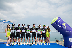 Nathan Haas (ESP) of Team Dimension Data, Jacques Janse van Rensburg (AUS) of Team Dimension Data, Kristian Sbaragli (ITA) of Team Dimension Data, Mark Renshaw (AUS) of Team Dimension Data, Ryan Gibbons (RSA) of Team Dimension Data, Bernhard Eisel (AUT) of Team Dimension Data and Mark Cavendish (GB) of Team Dimension Data during Stage 1 of 24th Tour of Slovenia 2017 / Tour de Slovenie from Koper to Kocevje (159,4 km) cycling race on June 15, 2017 in Slovenia. Photo by Vid Ponikvar / Sportida