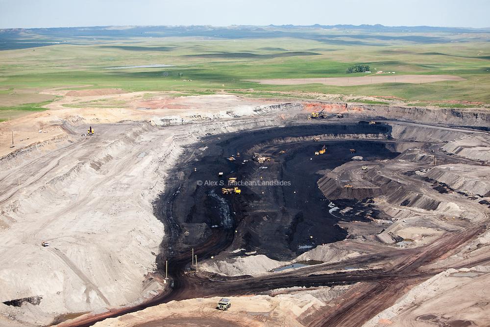 Coal strip mining in the Powder River Basin.