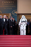 Storm Troopers arrive on the red steps at the Solo: A Star Wars Story gala screening at the 71st Cannes Film Festival, Tuesday 15th May 2018, Cannes, France. Photo credit: Doreen Kennedy