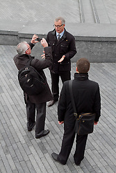 © Licensed to London News Pictures.05/04/2012. London, UK. The Lib Dem mayor of London candidate Brian Paddick pictured outside City Hall today (05/04) to announce that if elected Dwayne Brooks would become deputy mayor for youth and community. Photo credit : James Gourley/LNP