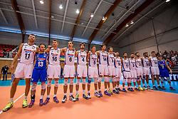 18-08-2017 NED: Oefeninterland Nederland - Itali&euml;, Doetinchem<br /> De Nederlandse volleybal mannen spelen hun eerste oefeninterland van twee in SaZa topsporthal tegen Italie als laatste voorbereiding op het EK in Polen / Team Italie