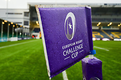 A general view of European Rugby Challenge Cup branding at the Sixways Stadium  - Mandatory by-line: Ryan Hiscott/JMP - 15/12/2018 - RUGBY - Sixways Stadium - Worcester, England - Worcester Warriors v Pau - European Rugby Challenge Cup