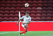 Dominic Calvert-Lewin of England during the U21 UEFA EURO first qualifying round match between England and Scotland at the Riverside Stadium, Middlesbrough, England on 6 October 2017. Photo by Paul Thompson.