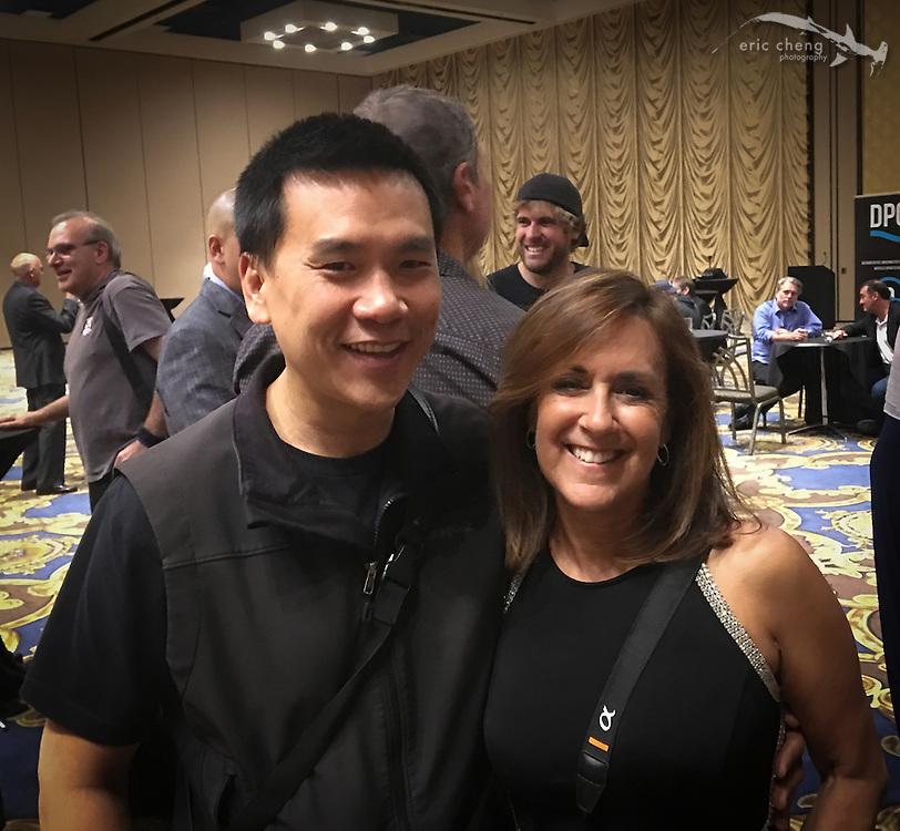 Eric Cheng and Michele Hall (DEMA 2016, Las Vegas)