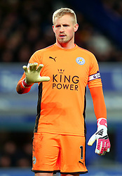 Kasper Schmeichel of Leicester City - Mandatory by-line: Robbie Stephenson/JMP - 31/01/2018 - FOOTBALL - Goodison Park - Liverpool, England - Everton v Leicester City - Premier League