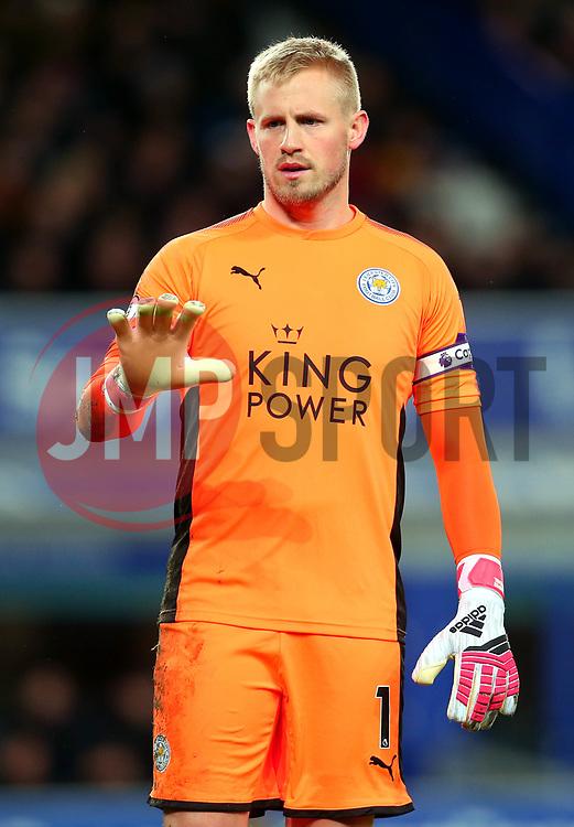 Kasper Schmeichel of Leicester City - Mandatory by-line: Robbie Stephenson/JMP - 31/01/2018 - FOOTBALL - Goodison Park - Liverpool, England - Everton v Leicester City - Premier League