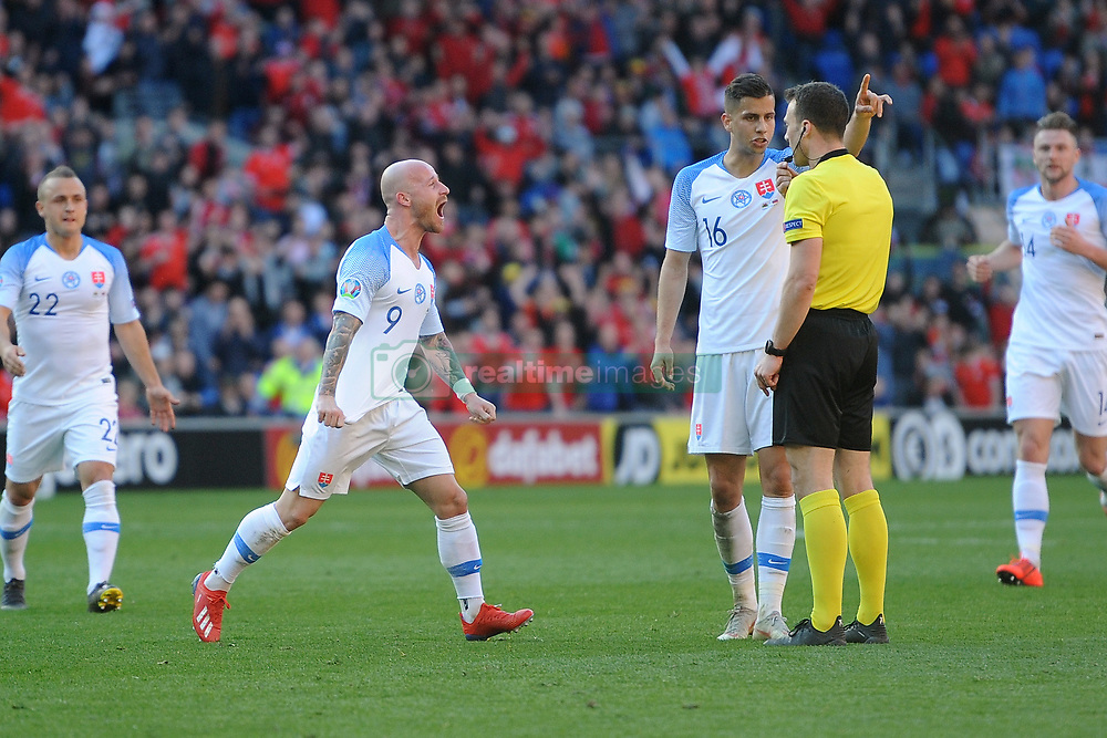 March 24, 2019 - Cardiff, United Kingdom - Miroslav Stoch during the UEFA European Championship Group E Qualifying match between Wales and Slovakia at the Cardiff City Stadium, Cardiff on Sunday 24th March 2019. (Credit Image: © Mi News/NurPhoto via ZUMA Press)