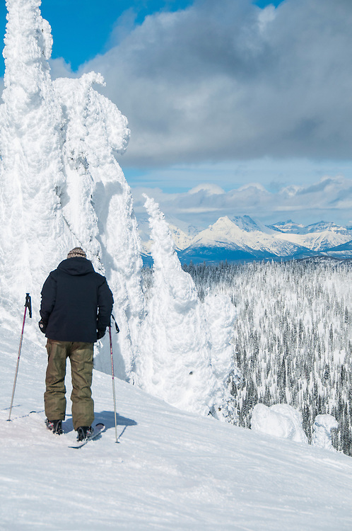 Whitefish Mountain resort and ski area in Whitefish, Montana USA.