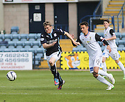 Dundee's Jim McAlister sprints away from Inverness Caledonian Thistle&rsquo;s Danny Williams  - Dundee v Inverness Caledonian Thistle - SPFL Premiership at Dens Park <br /> <br />  - &copy; David Young - www.davidyoungphoto.co.uk - email: davidyoungphoto@gmail.com