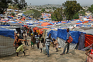 Haiti's only golf course is home to tens of thousands survivors at the Petion-Ville Club golf course on March 3. 2010...