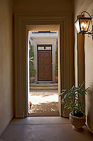 View through doorway of luxury villa