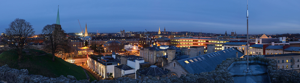 Oxford panoramic city skyline