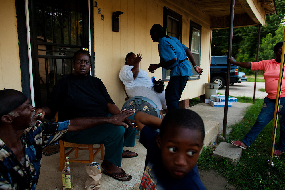 in the Baptist Town neighborhood of Greenwood, Mississippi on Friday, July 2, 2010.