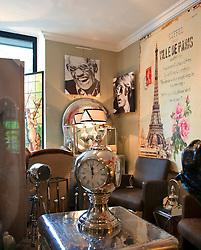 An eclectic mix of goods for sale mark Cote Parc, one of the more than 300 permanent antique shops and decorators for which the town of L'Isle-sur-la-Sorgue is famous.
