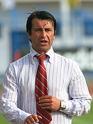 Coach of Labod Drava Ptuj Andan Zildzovic at 33rd Round of PrvaLiga Telekom Slovenije 2008/2009 league match between NK Luka Koper and NK Labod Drava Ptuj, on May 9, 2009, in SRC Bonifika, Koper, Slovenia. Drava won 2:1. (Photo by Vid Ponikvar / Sportida)