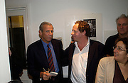 Peter Beard and Michael Hoppen,  Living Sculpture - exhibition of work by Peter Beard.  Michael Hoppen Gallery, 3 Jubilee Place. 24 November 2004. ONE TIME USE ONLY - DO NOT ARCHIVE  © Copyright Photograph by Dafydd Jones 66 Stockwell Park Rd. London SW9 0DA Tel 020 7733 0108 www.dafjones.com