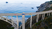 August 15, 2019:  Monterey Car Week, Lamborghini Huracan Evo, Spyder and Urus on Bixby Bridge