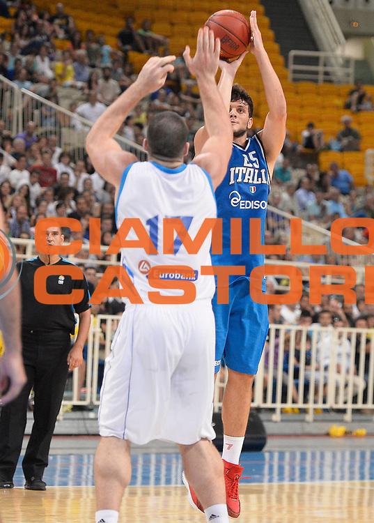 DESCRIZIONE : Atene Akropolis Cup Italia Grecia Italy Greece<br /> GIOCATORE : Alessandro Gentile<br /> CATEGORIA : tiro three points<br /> SQUADRA : Nazionale Italia Maschile Uomini<br /> EVENTO : Atene Akropolis Cup<br /> GARA : Italia Grecia Italy Greece<br /> DATA : 29/08/2013<br /> SPORT : Pallacanestro<br /> AUTORE : Agenzia Ciamillo-Castoria/R.Morgano<br /> Galleria : FIP Nazionali 2013<br /> Fotonotizia : Atene Akropolis Cup Italia Grecia Italy Greece<br /> Predefinita :