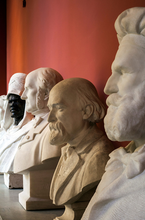 Gallery of busts in granet museum in Aix-en-Provence, France