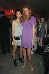 Left to right, models LIBERTY ROSS and  OLIVIA INGE at a party to celebrate Westfield London's sponsorship of the British Fashion Council's Fashion Forward Awards held at the Haymarket Hotel, 1 Suffolk Place, London on 17th July 2007.<br />