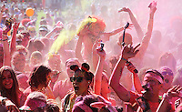 CAPE TOWN, SOUTH AFRICA - Saturday 12 November 2016,  during the Capitec Color Run held in and around Green Point Track in Cape Town. The Capitec Clor Run is a five kilometer non-timed race in which thousands of participants, or Color Runners, are doused from head to tow in different colours at each kilometer. <br /> Photo by Roger Sedres/ ImageSA