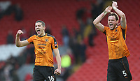 Football - 2016 / 2017 FA Cup - Fourth Round: Liverpool vs. Wolverhampton Wanderers<br /> <br /> Conor Coady and Richard Stearman of Wolverhampton Wanderers celebrate after the match at Anfield.<br /> <br /> COLORSPORT/LYNNE CAMERON