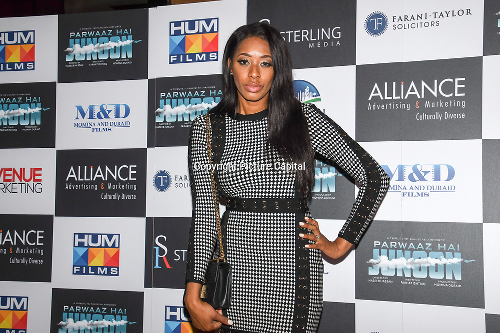 """Keisha White attend Photocall in London Premiere of """"Parwaaz Hai Junoon"""" (Soaring Passion) as featured on SKY, ITV at The May Fair Hotel, Stratton Street, London, UK. 22 August 2018."""