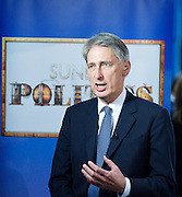 Conservative Party Conference, ICC, Birmingham, Great Britain <br /> Day 1<br /> 7th October 2012 <br /> <br /> <br /> Rt Hon Philip Hammond MP <br /> secretary of State for Defence <br /> live interview on the Sunday Politics Show<br /> <br /> Photograph by Elliott Franks<br /> <br /> Tel 07802 537 220 <br /> elliott@elliottfranks.com<br /> <br /> ©2012 Elliott Franks<br /> Agency space rates apply
