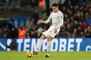 Manchester United Defender Chris Smalling during the Premier League match between Crystal Palace and Manchester United at Selhurst Park, London, England on 5 March 2018. Picture by Phil Duncan.