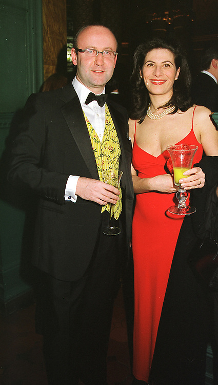 MR & MRS SEBASTIAN SAINSBURY at a ball in London on 12th March 1999.MPH 29