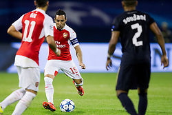 Santi Cazorla #19 of Arsenal F.C. during football match between GNK Dinamo Zagreb, CRO and Arsenal FC, ENG in Group F of Group Stage of UEFA Champions League 2015/16, on September 16, 2015 in Stadium Maksimir, Zagreb, Croatia. Photo by Urban Urbanc / Sportida