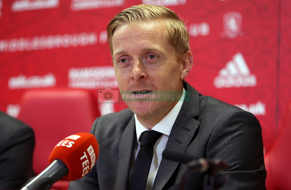 New Middlesbrough manager Garry Monk is unveiled during a press conference.