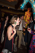 ILARIA PURPIPURINI; GIANNI GIRAFFE,  Gazelli host The Colbert Art Party last night at  LouLou's, The Bauer in Venice, Venice Biennale, Venice. 7 May 2015