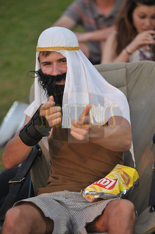 Fancy dress during match 9 of the Airtel CLT20 held between the Chennai Super Kings v Wayamba Elevens at Supersport Park in Centurion on the 15 September 2010..Photo by: Michael Edwards/SPORTZPICS/CLT20