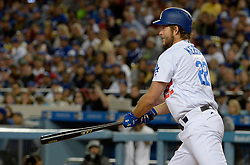 April 14, 2017 - Los Angeles, California, U.S. - Los Angeles Dodgers' Clayton Kershaw grounds into a inning ending double play with bases loaded against the Arizona Diamondbacks in the second inning of a Major League baseball game at Dodger Stadium on Friday, April 14, 2017 in Los Angeles. (Photo by Keith Birmingham, Pasadena Star-News/SCNG) (Credit Image: © San Gabriel Valley Tribune via ZUMA Wire)