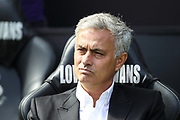 Manchester United manager Jose Mourinho before the Premier League match between Swansea City and Manchester United at the Liberty Stadium, Swansea, Wales on 19 August 2017. Photo by Andrew Lewis.
