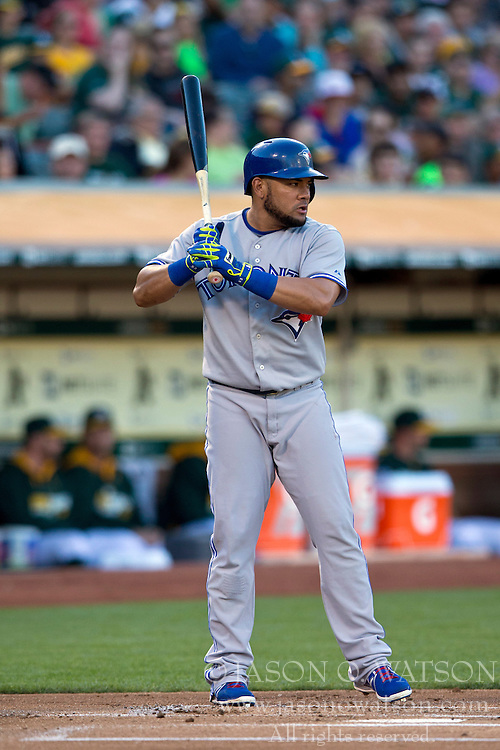 OAKLAND, CA - JULY 05:  Melky Cabrera #53 of the Toronto Blue Jays at bat against the Oakland Athletics during the first inning at O.co Coliseum on July 5, 2014 in Oakland, California. The Oakland Athletics defeated the Toronto Blue Jays 5-1.  (Photo by Jason O. Watson/Getty Images) *** Local Caption *** Melky Cabrera
