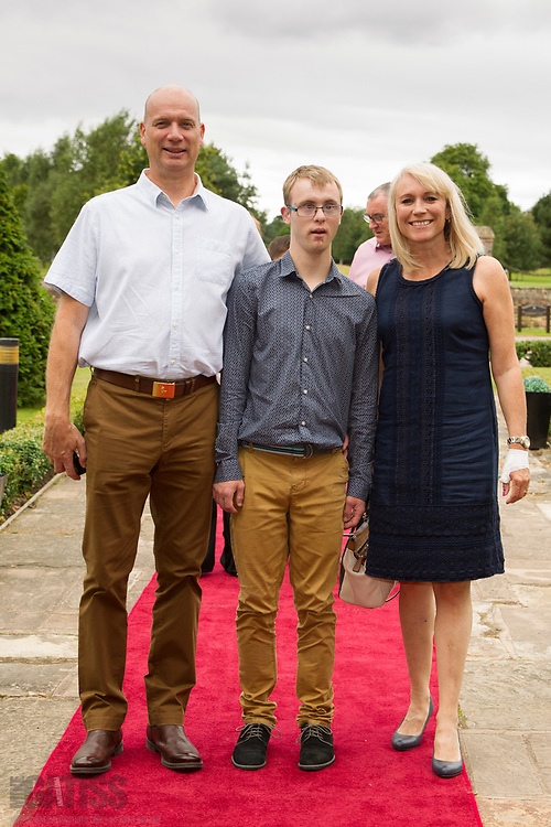 Guests arriving on the red carpet at Vale Royal Abbey for the 10th Birthday Celebration of Cheshire Down's Syndrome Support Group, 2017-07-15