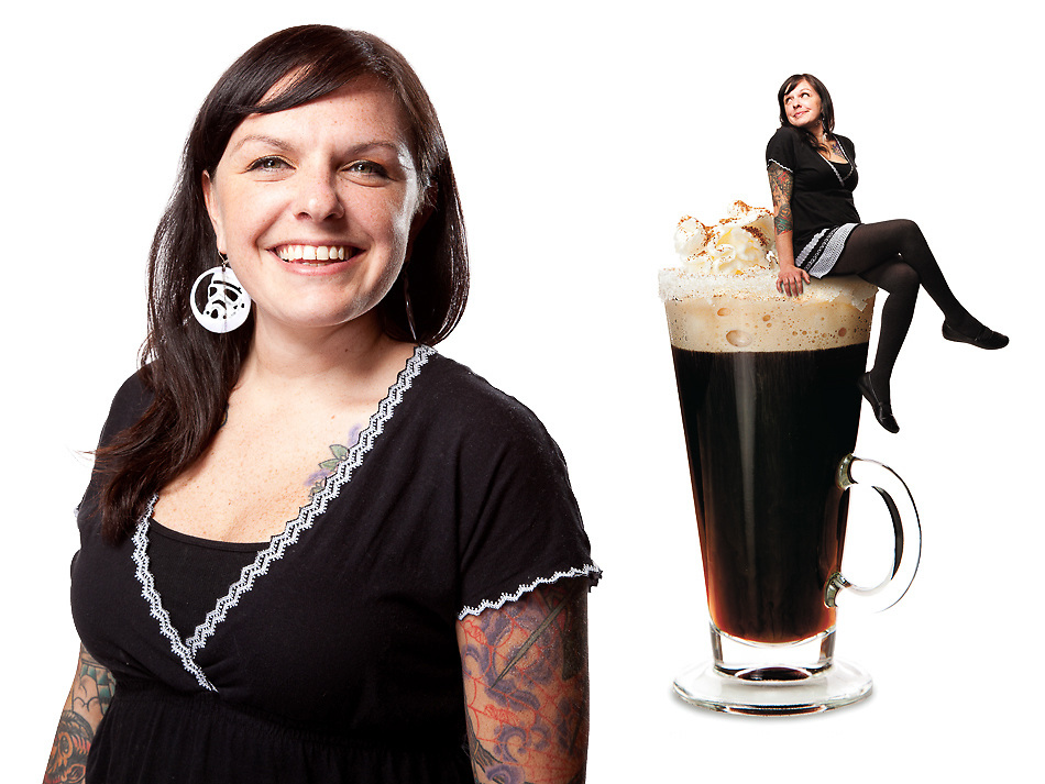 Angie Cornish, a bartender in St. Louis, MO. photographed for Feast magazine.