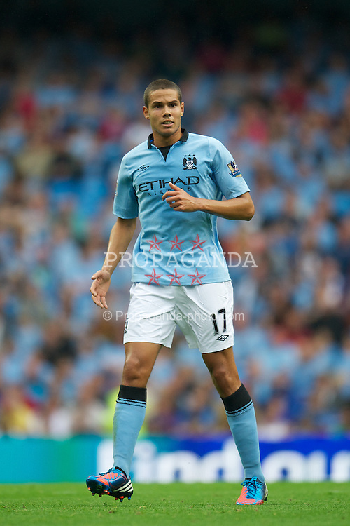 MANCHESTER, ENGLAND - Sunday, August 19, 2012: Manchester City's Jack Rodwell in action against Southampton during the Premiership match at the City of Manchester Stadium. (Pic by David Rawcliffe/Propaganda)