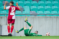Erik Gliha, Asmir Suljic during football match between NK Olimpija Ljubljana and Aluminij in Round #9 of Prva liga Telekom Slovenije 2018/19, on September 23, 2018 in Stozice Stadium, Ljubljana, Slovenia. Photo by Morgan Kristan