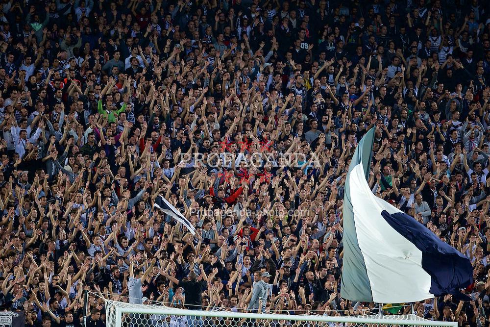BORDEAUX, FRANCE - Thursday, September 17, 2015: FC Girondins de Bordeaux supporters during the UEFA Europa League Group Stage Group B match against Liverpool at the Nouveau Stade de Bordeaux. (Pic by David Rawcliffe/Propaganda)