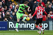 Forest Green Rovers Theo Archibald(18) controls the ball during the EFL Sky Bet League 2 match between Lincoln City and Forest Green Rovers at Sincil Bank, Lincoln, United Kingdom on 3 November 2018.